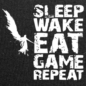Sleep Wake Eat Game Repeat - Jersey Beanie