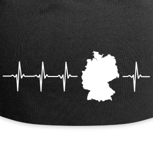 Germany, heartbeat design (I love Germany magnif) - Jersey Beanie