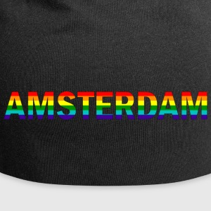 Amsterdam in rainbow colors - Jersey Beanie