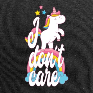 I don't care - unicorn - Jersey Beanie