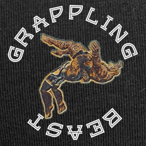 GRAPPLING BESTIA (APE VS JAGUAR) NAVY - Beanie in jersey