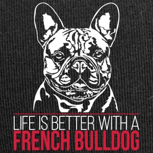 LIFE IS BETTER WITH A FRENCH BULLDOG - Jersey Beanie