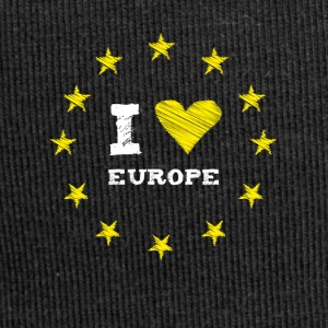 I Love europe Star Herz Stick eu no brexit kreis l - Jersey-Beanie