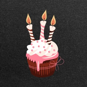 Cupcake with three candles - Jersey Beanie