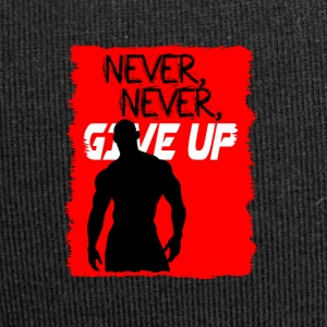 Never, Never, Give Up - Beanie in jersey