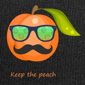 Glasses, mustache keep the peach - Jersey Beanie
