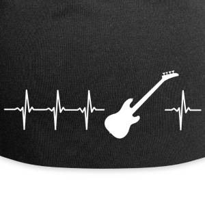 I love electric guitar (guitar heartbeat) - Jersey Beanie