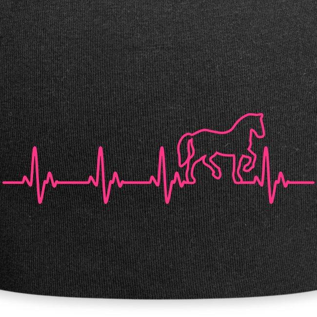 Vorschau: Horse Heartbeat - Jersey-Beanie