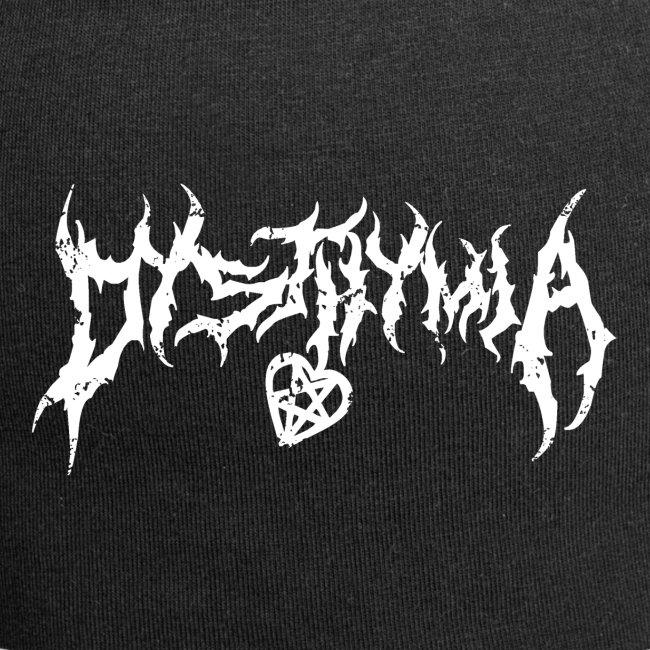 dysthymia trashed white on black
