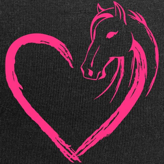 Vorschau: Pferde Herz - Jersey-Beanie