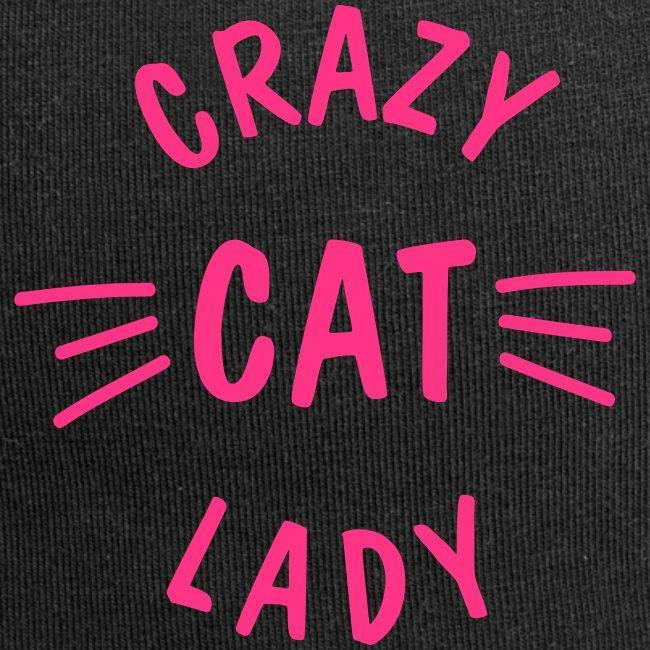 Vorschau: Crazy Cat Lady meow - Jersey-Beanie