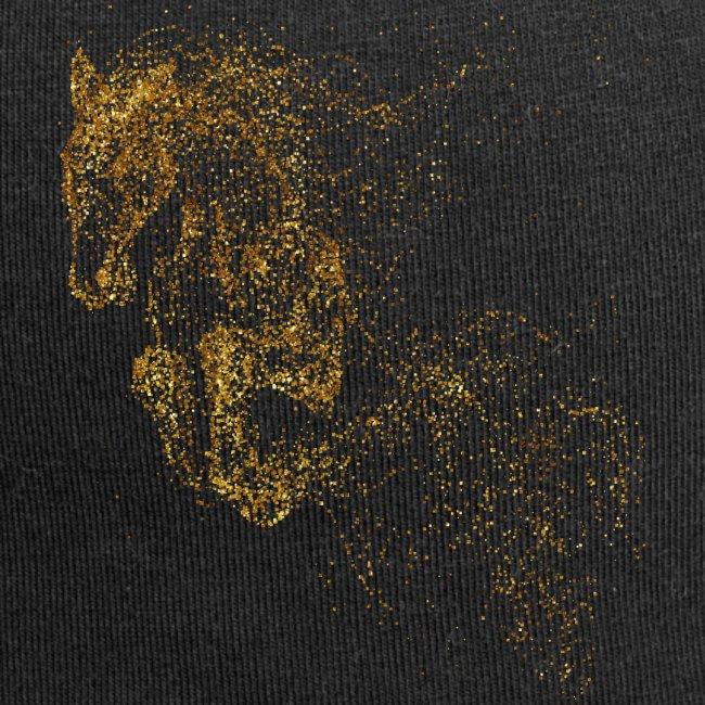 Vorschau: jumping horse gold - Jersey-Beanie