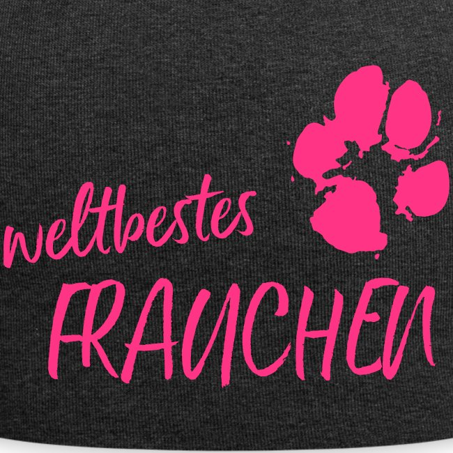 Vorschau: weltbestes Frauchen Pfote Hund - Jersey-Beanie