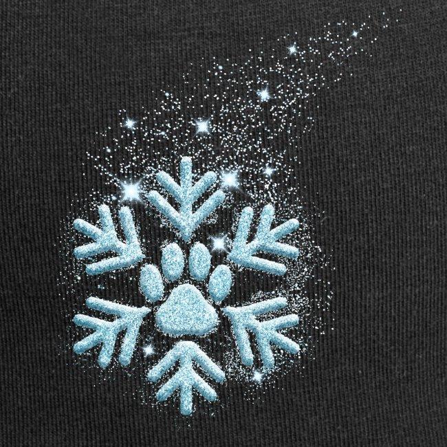 Vorschau: dog paw snowflake - Jersey-Beanie
