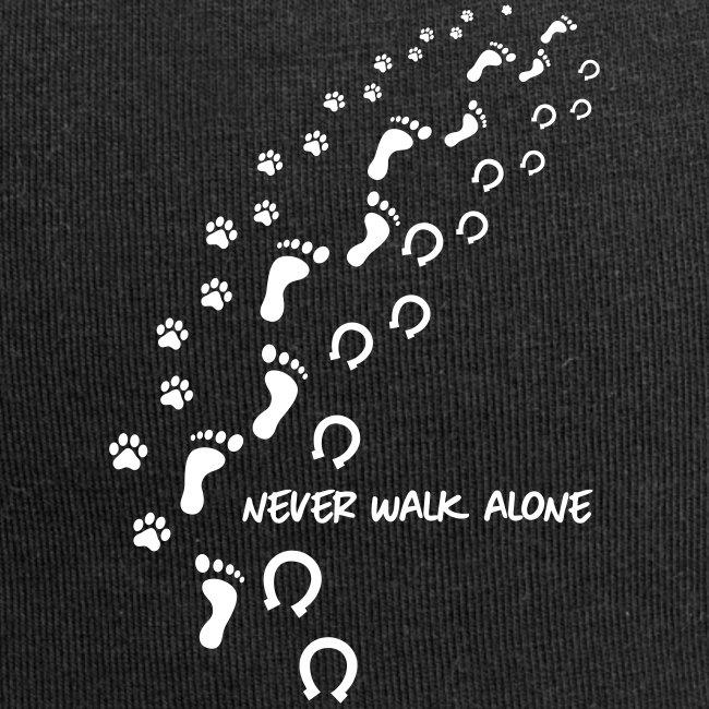 Vorschau: never walk alone hund pferd - Jersey-Beanie