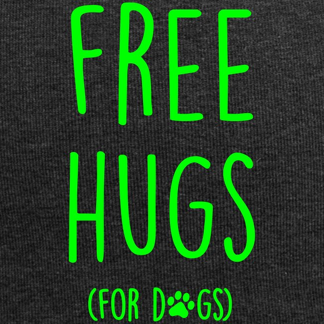 Vorschau: free hugs for dogs - Jersey-Beanie