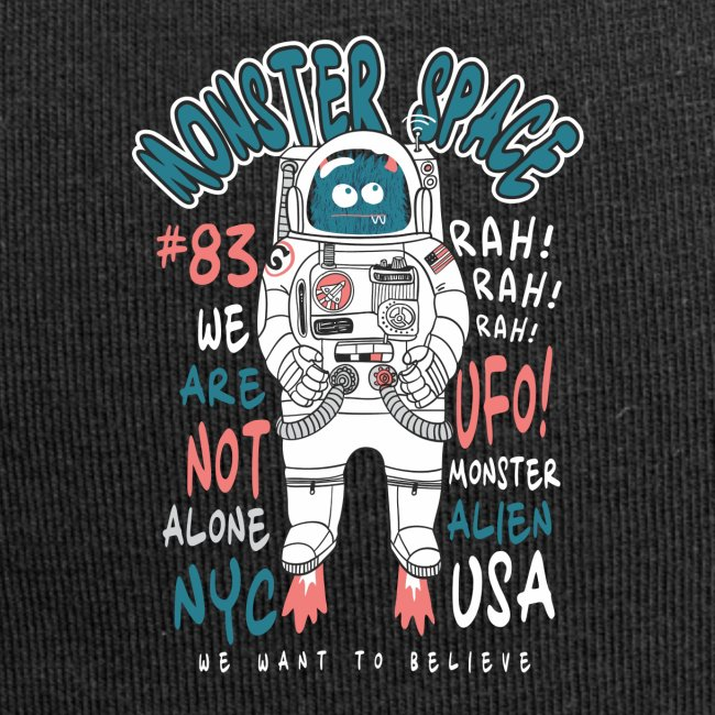 Little Monster In Space 80s Retro