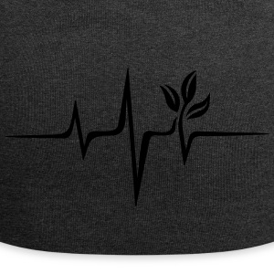 Vegan pulse, plant, frequency, heartbeat, beat, V - Jersey Beanie