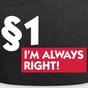 Paragraph 1: I'm Always Right! - Jersey Beanie