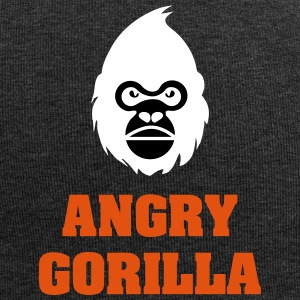 angry_gorilla_white - Jersey Beanie