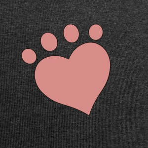 Heart Print - Simple Heart Paw Print - Jersey-Beanie