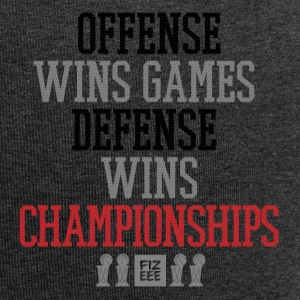 Offense wins games defense wins championships - Jersey-Beanie