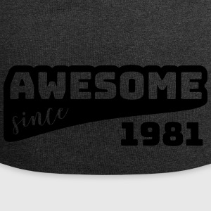 Awesome siden 1981 / Birthday-Shirt - Jersey-beanie