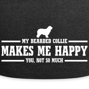 BEARDED COLLIE makes me happy - Jersey Beanie
