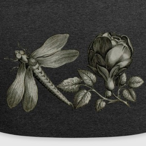 Dragonfly and Flower - Jersey Beanie