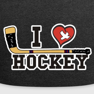 I Love Hockey - Jersey Beanie