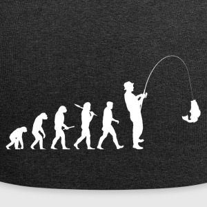 Evolution Fishing! Fishing! Fischer! Fish! funny - Jersey Beanie