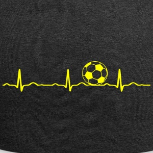 ECG HEARTS football yellow - Jersey Beanie