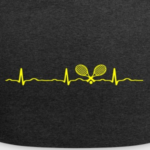 ECG HEARTBEAT TENNIS yellow - Jersey Beanie