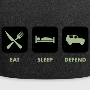 Eat, Sleep & Defend - Jersey Beanie