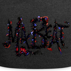 MA BEAT red - ARTwork by BEATZ.Art font design - Jersey Beanie