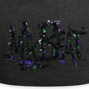 MA BEAT lila- ARTwork by BEATZ.Art Schrift Design - Jersey-Beanie
