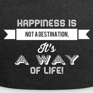 Happiness is not a destination it's a way... weiss - Jersey-Beanie