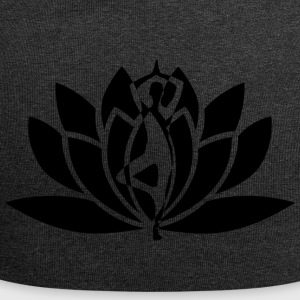 Yoga silhouette - Jersey Beanie