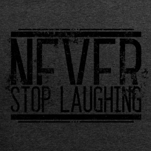 Aldrig Stop Laughing Gamle 001 runde design - Jersey-Beanie