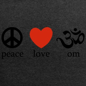 Peace Love Yoga - Jersey-Beanie