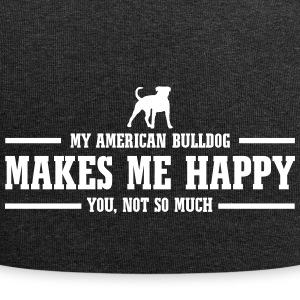 AMERICAN BULLDOG makes me happy - Jersey Beanie