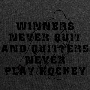 Hockey Winners Never Quit Quitters NEVER Play - Jersey Beanie
