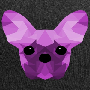 Bouledogue français Low Poly design lilas - Bonnet en jersey