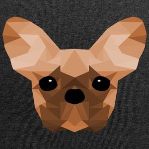 French Bulldog Low Poly Design orange - Jersey Beanie