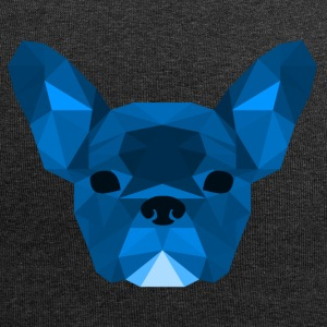 Low Poly Frenchie blue - Jersey-Beanie