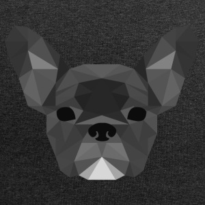 Low Poly Frenchie szary - Czapka krasnal z dżerseju