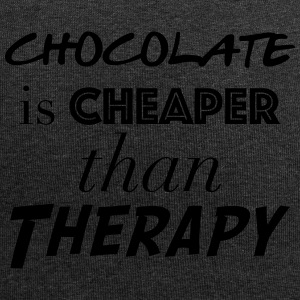 chocolate is cheaper than therapy - Bonnet en jersey