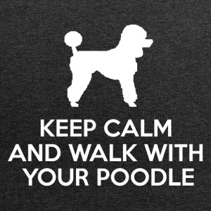 Hund / Pudel: Keep Calm And Walk With Your Poodle - Jersey-Beanie