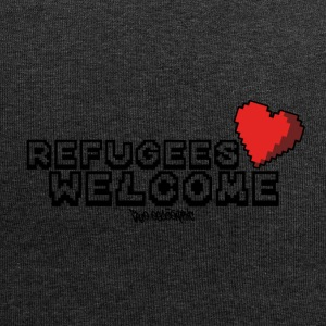 Refugees Welcome Pixel Design - Jersey Beanie