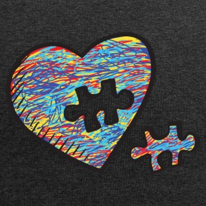Autism Acceptance Heart Puzzle Birthday Shirt - Jersey Beanie